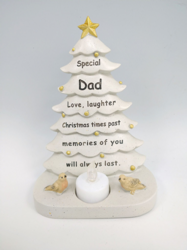 Someone Special memorial Christmas tree with flickering tea light Dad